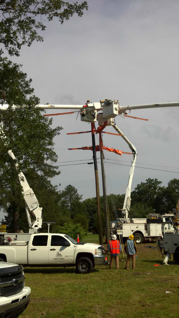 Electric Pole Line Repair